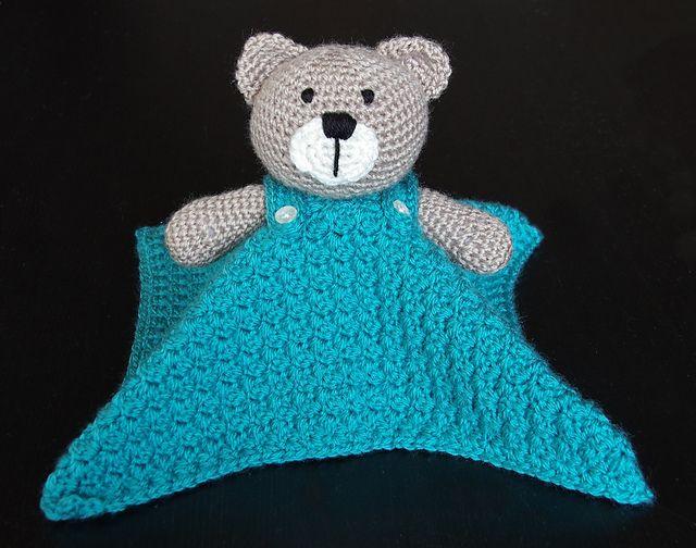 Teddy Bear Lovey Security Blanket Pattern By Carolina
