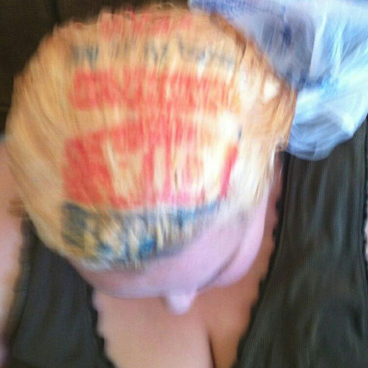 Epic Funny Hair Fail......When bleaching your own hair at home.....make sure the plastic bag you wrap your hair in is… http://ibeebz.com