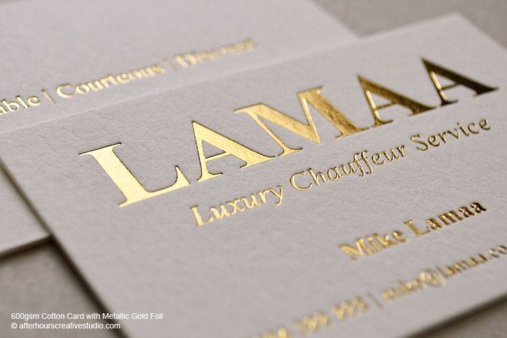 The 85 best business cards images on pinterest business card a best collection of gold foil business cards with single and double side printing here reheart Gallery