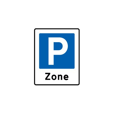 Zone med parkering E 68,3
