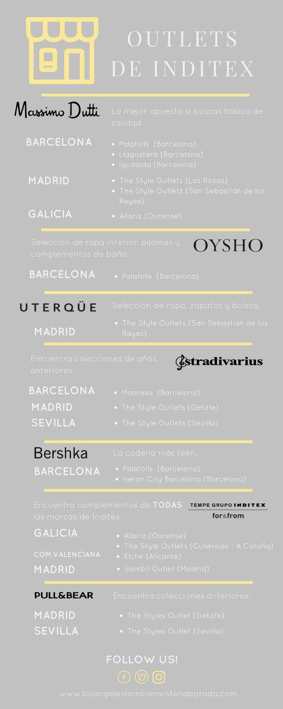¿Buscas la dirección del OUTLET de Zara, massimo dutti , uterque, oysho, pullandbear, inditex, stradivarius, Bershka, tempe?
