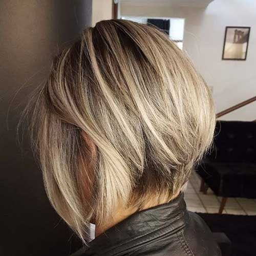 2018 blonde stacked bob