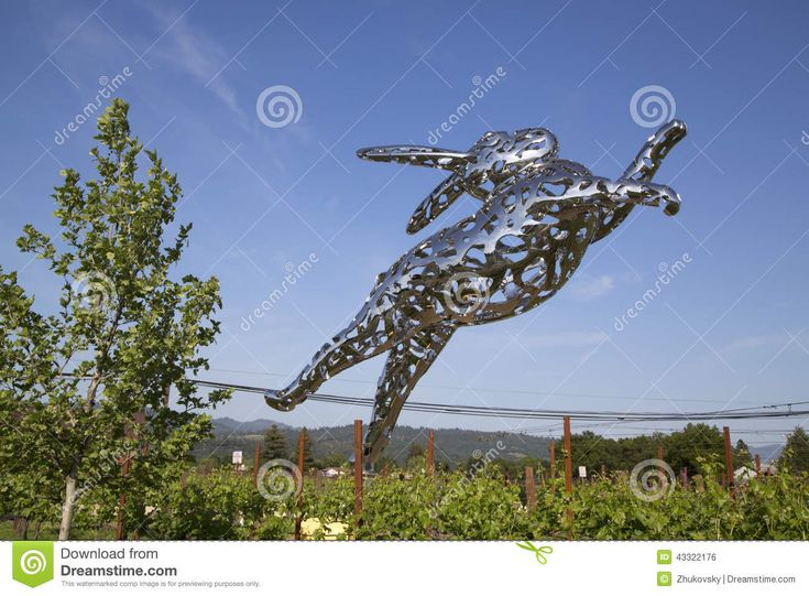 Bunny Foo Foo Sculpture At The Hall Winery In Napa Valley ...