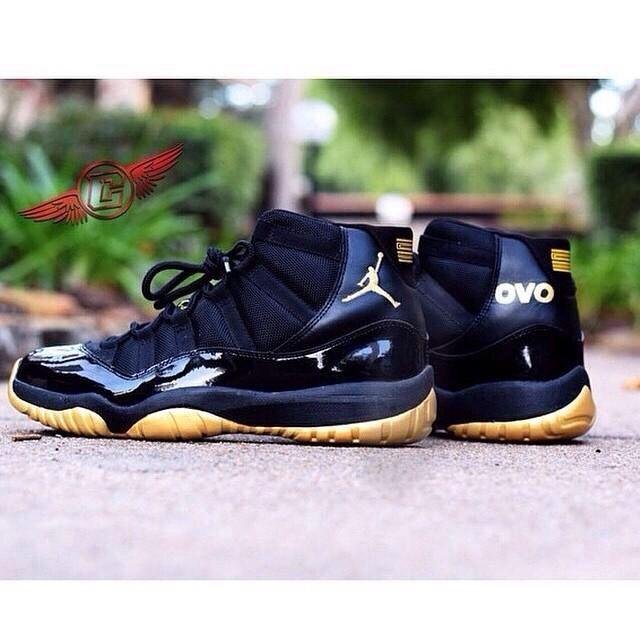 retro carmelo anthony black yellow ovo 11s jordan shoes pinterest
