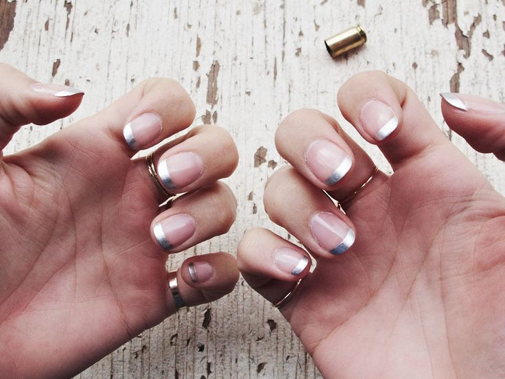 Silver and nudes Nail Trend Fall Winter 2016 - Fashionchick