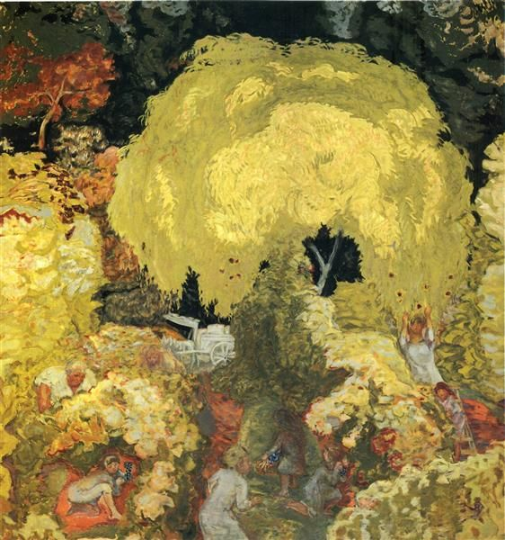 Autumn: The Fruit Pickers, 1912 by Pierre Bonnard. Post-Impressionism. landscape. Pushkin Museum of Fine Art, Moscow, Russia