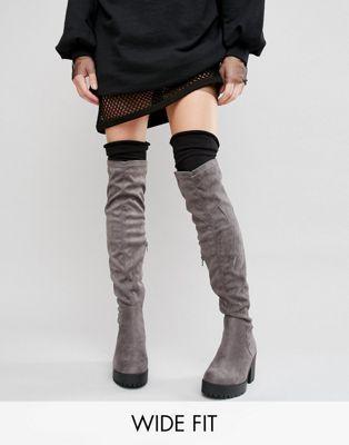 Сапоги-ботфорты для широкой стопы New Look
