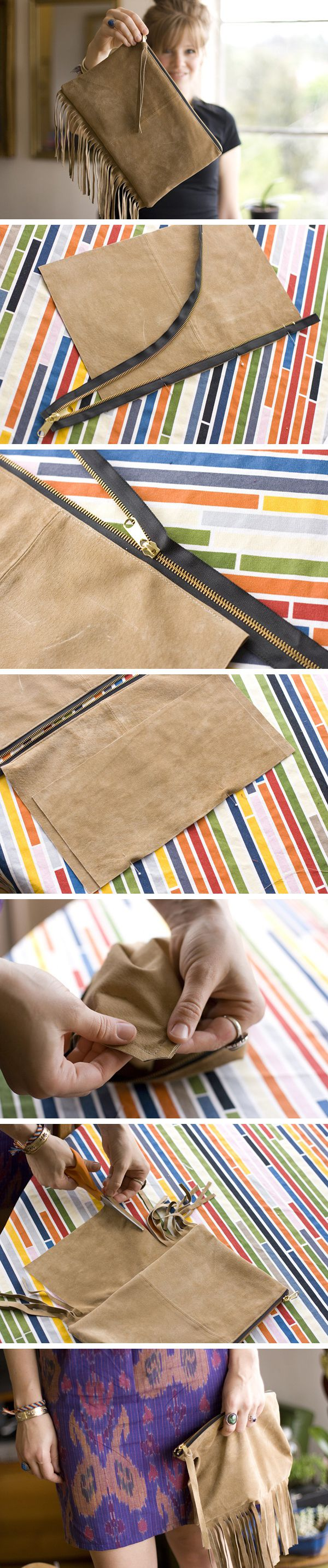DIY fringe bag.