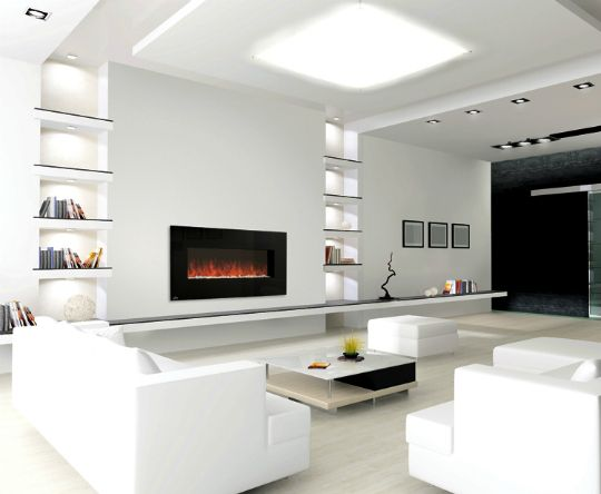 Modern Fireplaces: Indoors & Out - 17 Best Ideas About Modern Electric Fireplace On Pinterest