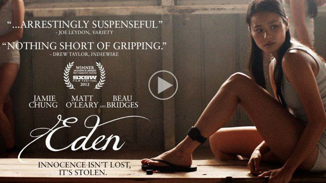 """""""EDEN"""" - Theatrical trailer. In theaters March 20, 2013.  Directed by Megan Griffiths. Written by Richard B. Phillips and Megan Griffiths. Produced by Colin Harper Plank and Jacob Mosler. A Centripetal Films Production.  Eden, a young Korean-American girl, is abducted near her home in New Mexico and forced into prostitution by a domestic human and drug trafficking ring located outside the bright lights of Las Vegas, Nevada. Throughout the two years she is held, Eden reluctantly ensures ..."""