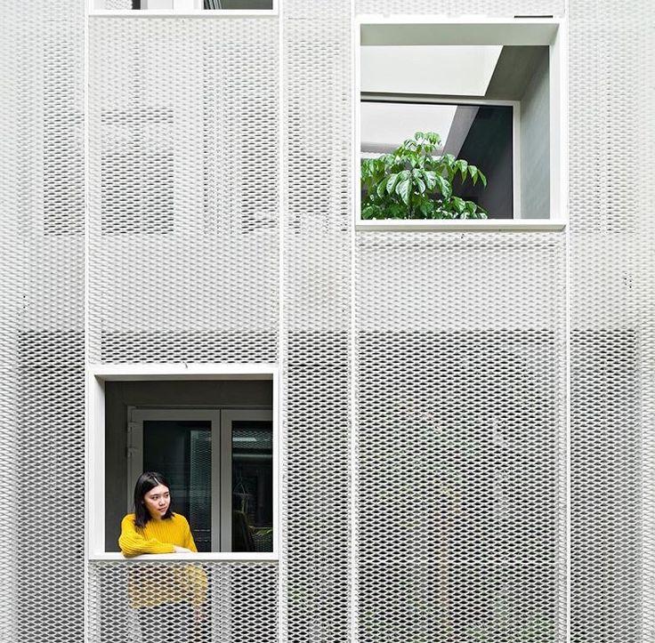 Perforated façade