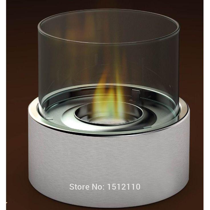 Free shipping Bio Ethanol Talbe Top Fireplace Home Decoration Round Tube Design KW2302