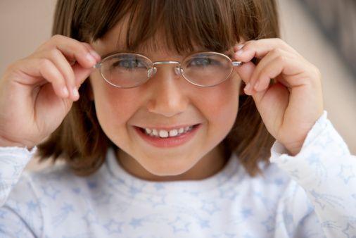 CHILDREN WEARING EYE GLASSES