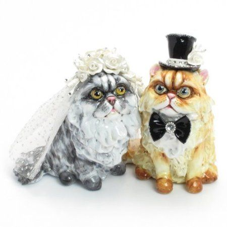 71 best cat themed wedding images on pinterest themed weddings cat lover wedding cake topper clay sculpted hand painted junglespirit Choice Image