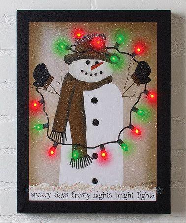 Look what I found on #zulily! Bright Lights Lighted Canvas #zulilyfinds