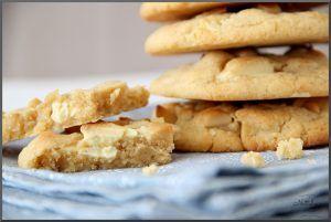 American Cookies mit weißer Schokolade und Macadamianüssen