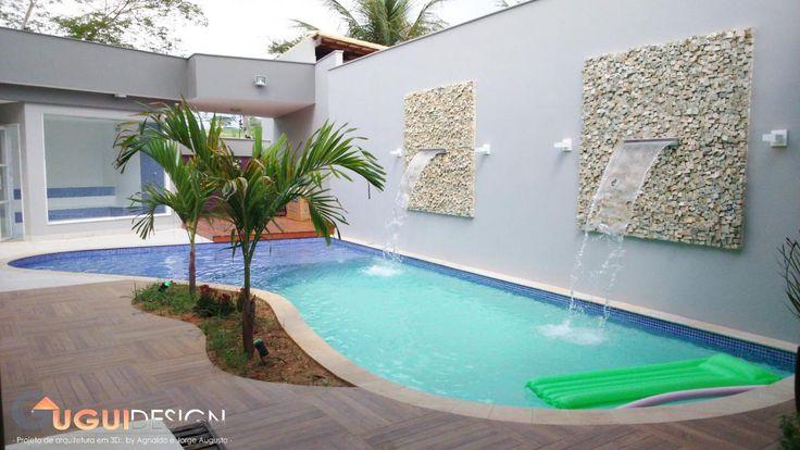 Deck da piscina com porcelanato