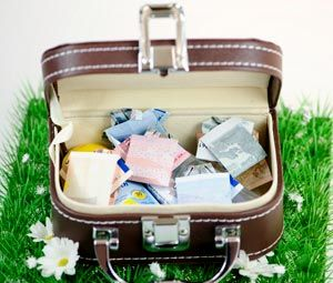 Reisekoffer voller Geld