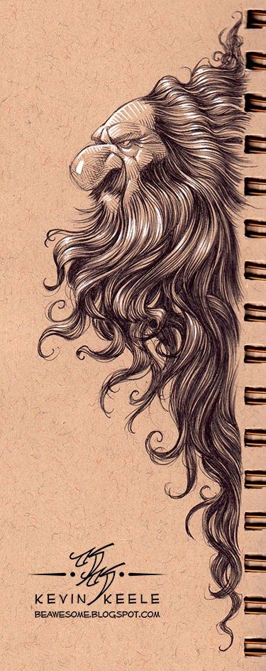 wonderful sketchbook drawing by kevin keele (2)--love the hair flow and the highlight!