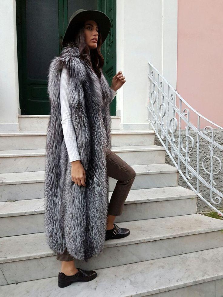 Fur coat satin lining fetish