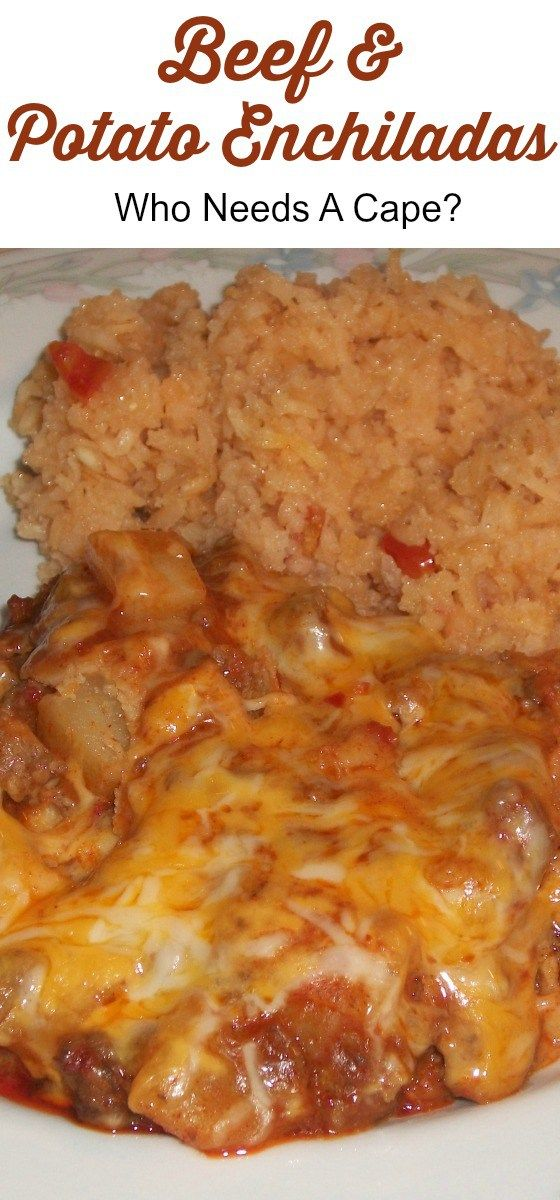 Make some delicious and budget friendly Beef & Potato Enchiladas. Perfect comfort food for a restaurant quality meal at home.