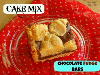 {Cake Mix} Fudgey Bars by Lori Ann's Food and Fam