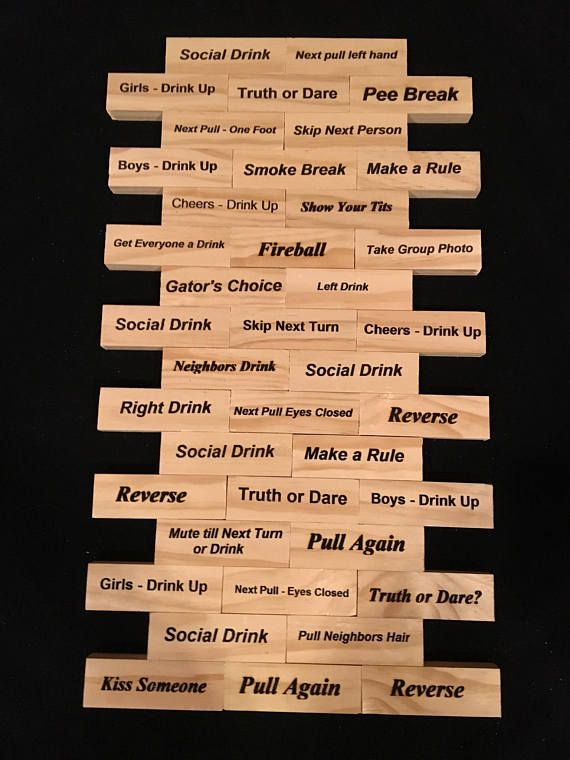Wood Tumbling Blocks Drinking Game Diy Gifts Pinterest