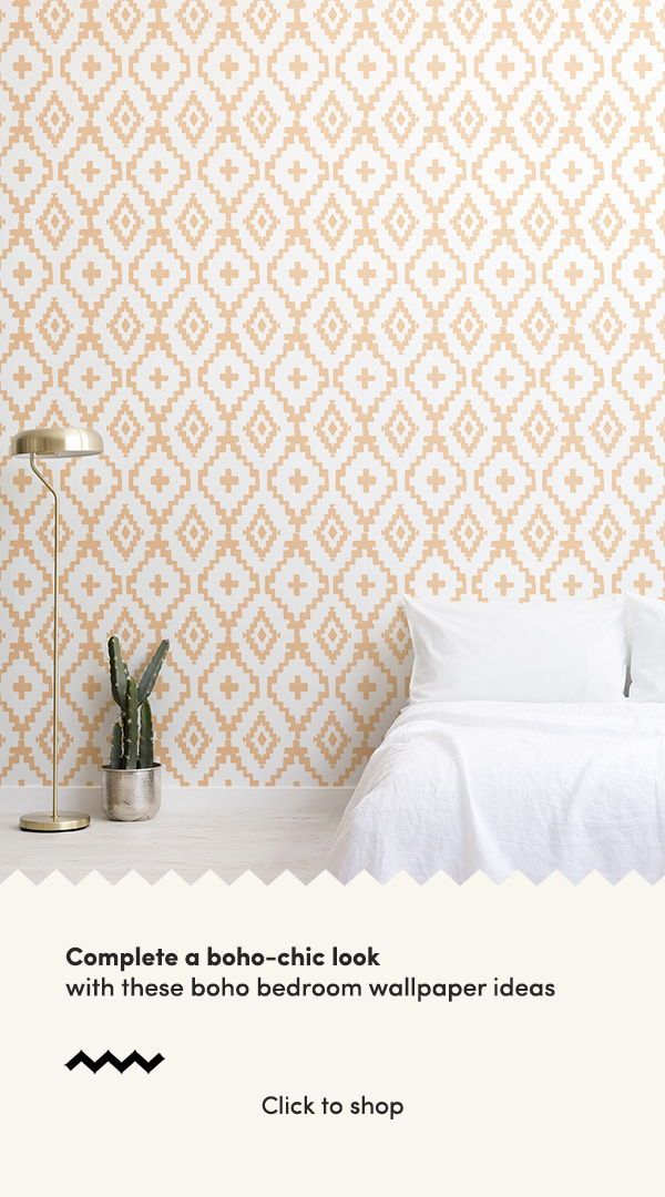 Be Inspired By These Sweet Boho Bedroom Ideas And Create A Free Spirited Space To Rest An Feature Wall Bedroom Wallpaper Bedroom Feature Wall Wallpaper Bedroom Boho bedroom wallpaper ideas