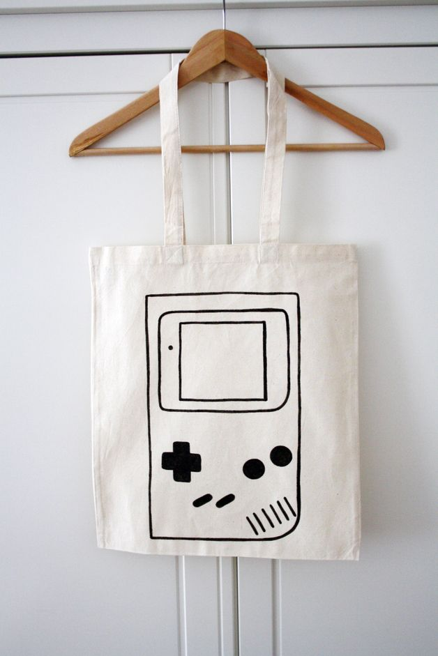 "Jutebeutel ""Gameboy"" // Tote bag ""Gameboy"" by luloveshandmade via DaWanda.com"