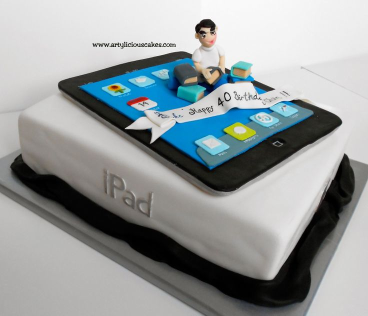 Ipad Cake - since he's getting a technology degree