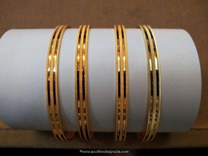 Daily Wear Gold Plain Bangles