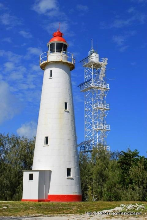 New and Old Lighthouses on Lady Elliot Island - Queensland, Australia.