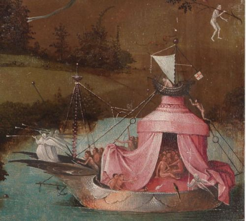 Hieronymus Bosch (c 1450–1516), The Last Judgment (left wing, detail) (c 1495-1505),