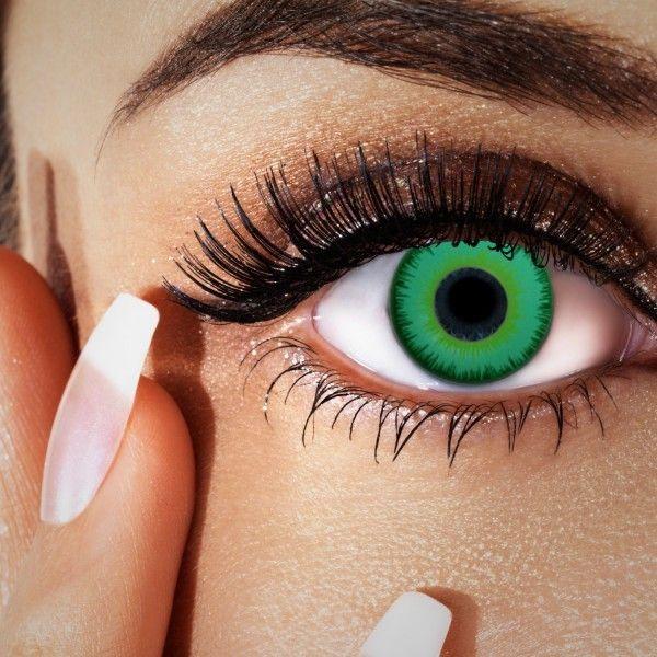 Grüne Farblinsen - auch für braune Augen, ohne Stärke