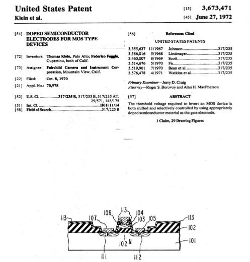 Federico Faggin, #patent, MOS Siliciumchip, MOS silicon gate, integrated circuit, mos transistor, Intel 4004, Zilog Z80, 1970, European Inventor Award 2006