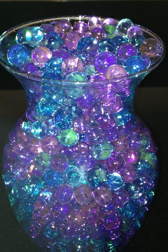Purple and teal i want some of these so bad the other - Purple and teal centerpieces ...