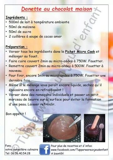 Danette chocolat maison - Tupperware