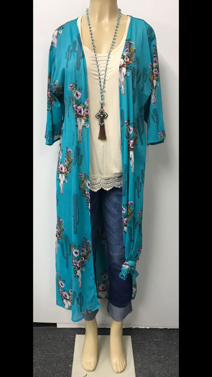 Loving this curvy girl Pita turquoise lo...... Get one for your closet here http://curvygypsi.com/products/pita-turquoise-longhorn-skull-kimono?utm_campaign=social_autopilot&utm_source=pin&utm_medium=pin