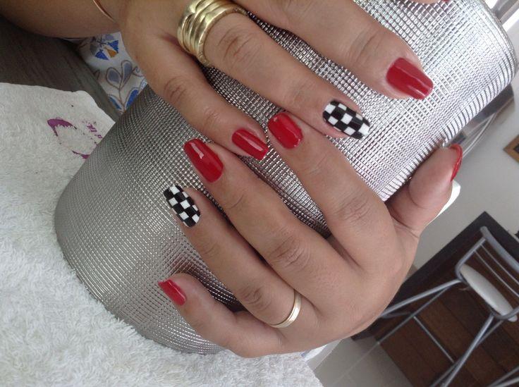 Racing nails #gelish #formula1