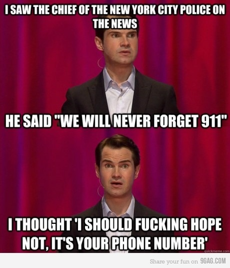Jimmy Carr............realisation...discovery....OMG