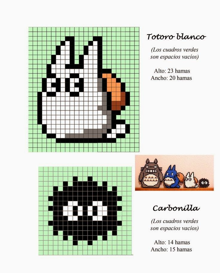 Totoro Hama Beads Pattern post by wememade