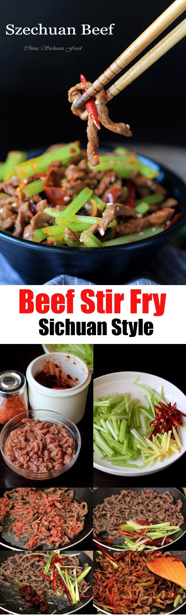 Szechuan Beef Stir Fry | China Sichuan Food
