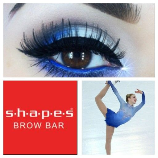 eye makeup inspired by sochi winter figure skating @shapesBrowBar1 #MakeOverBar #ShapesBrowBar