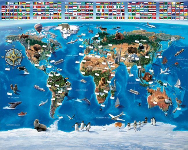 Wereldkaart behang WT Afmeting: 305 cm breed x 244 cm hoog  Materiaal: stevig papier Lijm advies: 1/2 pakje Perfax/Bison paars  (wordt niet meegeleverd) Delen: 12 stukken van 50 cm breed en 122 cm lang. Prijs: 64,95