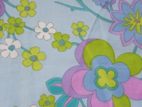1960s Vintage Sewing Fabric Remnant by SuesUpcyclednVintage,