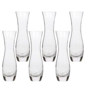 Hosley Glass Bud Vases, Set of 6