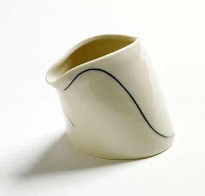 Charming milkjug, reminds me of a bird. Handthrown porcelain,  £34