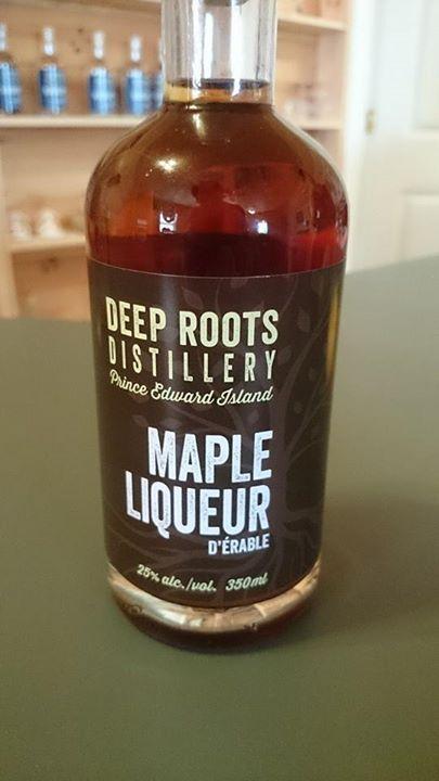 Maple Liqueur from Deep Roots Distillery on Prince Edward Island. http://deeprootsdistillery.com/maple-liqueur/