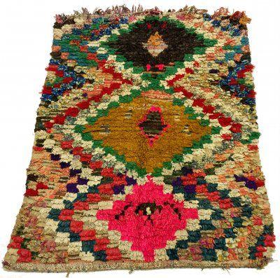 Marokkaanse Berber tapijt Boucherouite 180 x 150 cm