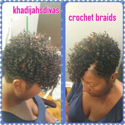 Short crochet braids by Khadijahsdivas. Great protective style!